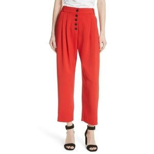 ALC Russel high rise pleated pants red cropped 8